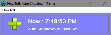 HowTolk Auto Shutdown Timer main screen